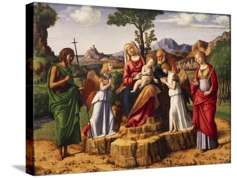 Holy Conversation or Madonna Enthroned with Child-Giovanni Battista Cima Da Conegliano-Stretched Canvas Print