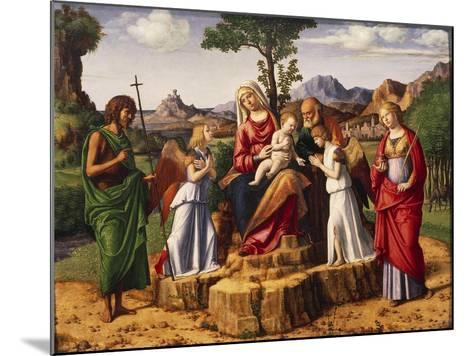 Holy Conversation or Madonna Enthroned with Child-Giovanni Battista Cima Da Conegliano-Mounted Giclee Print