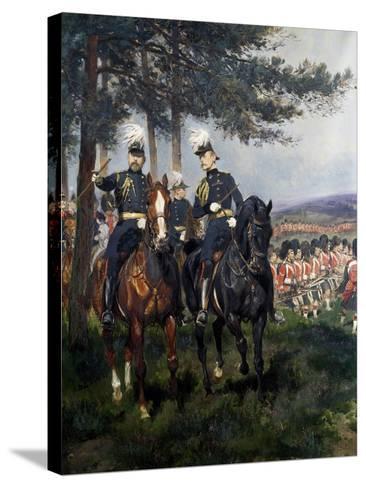 Manoeuvres at Aldershot-Jean Baptiste Edouard Detaille-Stretched Canvas Print