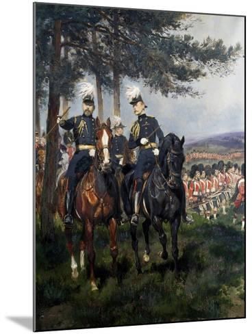 Manoeuvres at Aldershot-Jean Baptiste Edouard Detaille-Mounted Giclee Print