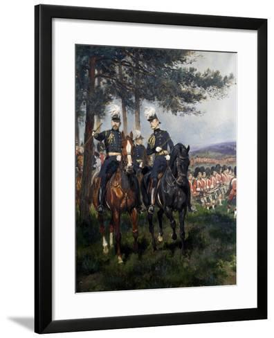 Manoeuvres at Aldershot-Jean Baptiste Edouard Detaille-Framed Art Print