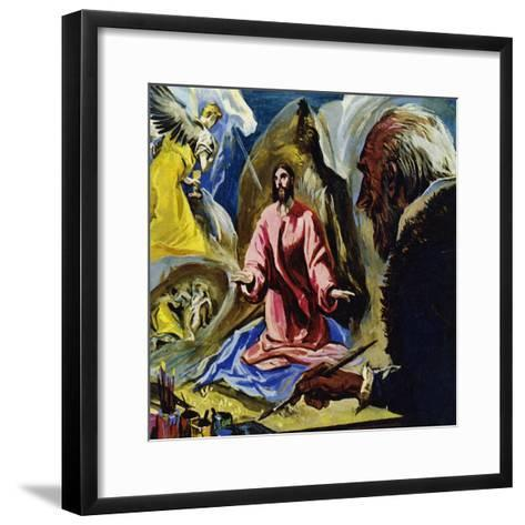 El Greco Continued to Paint Religious Subjects Until His Death at the Age of 73-Luis Arcas Brauner-Framed Art Print
