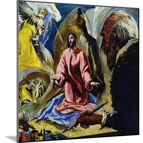 El Greco Continued to Paint Religious Subjects Until His Death at the Age of 73-Luis Arcas Brauner-Mounted Giclee Print