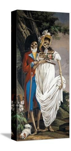 Husband and Wife Nobles, from Cycle of Scenes of Living Skeletons-Paolo Vincenzo Bonomini-Stretched Canvas Print