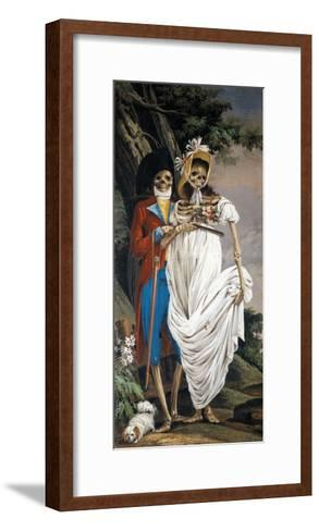 Husband and Wife Nobles, from Cycle of Scenes of Living Skeletons-Paolo Vincenzo Bonomini-Framed Art Print