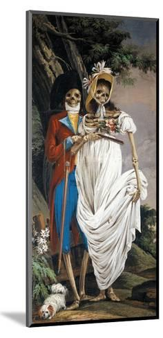 Husband and Wife Nobles, from Cycle of Scenes of Living Skeletons-Paolo Vincenzo Bonomini-Mounted Giclee Print