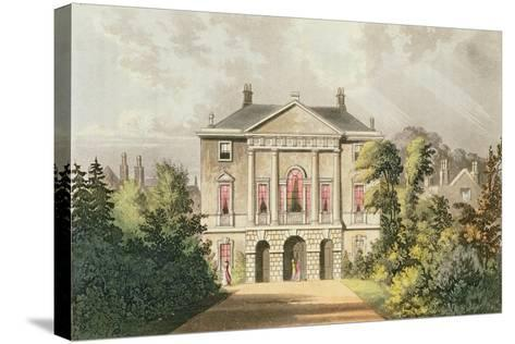 The New Lodge, Richmond Park, from Ackermann's 'Repository of Arts', Published C.1826-John Gendall-Stretched Canvas Print