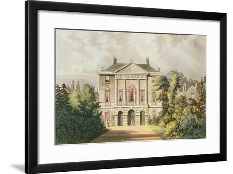 The New Lodge, Richmond Park, from Ackermann's 'Repository of Arts', Published C.1826-John Gendall-Framed Art Print