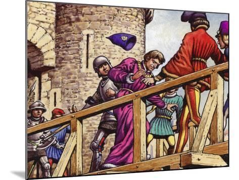 The Dauphin Meets John the Fearless, Duke of Burgundy, on the Bridge across the Seine-Pat Nicolle-Mounted Giclee Print