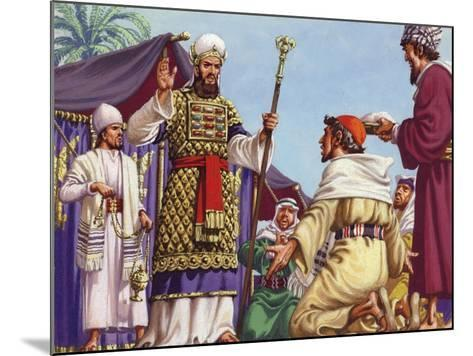 """The Three Wise Men Asking Herod """"Where Is the Babe Who Is Born to Be King of the Jews?""""-Pat Nicolle-Mounted Giclee Print"""