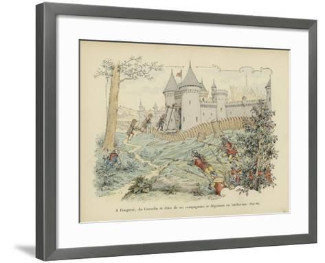 Bertrand Du Guesclin and Two of His Companions Disguise Themselves as Woodcutters-Paul de Semant-Framed Art Print