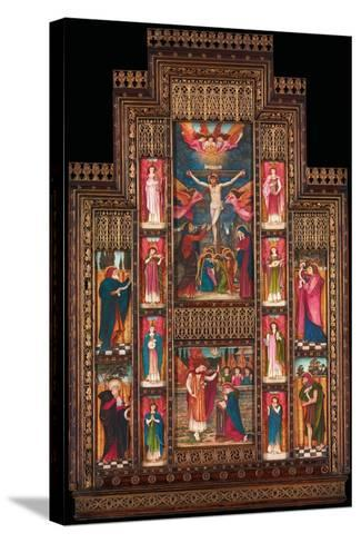 Design for Reredos at Holy Trinity Church, Florence, in Gothic Revival Frame by Bernini of Florence-John Roddam Spencer Stanhope-Stretched Canvas Print