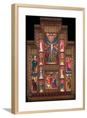 Design for Reredos at Holy Trinity Church, Florence, in Gothic Revival Frame by Bernini of Florence-John Roddam Spencer Stanhope-Framed Art Print