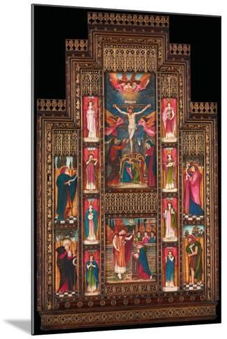 Design for Reredos at Holy Trinity Church, Florence, in Gothic Revival Frame by Bernini of Florence-John Roddam Spencer Stanhope-Mounted Giclee Print