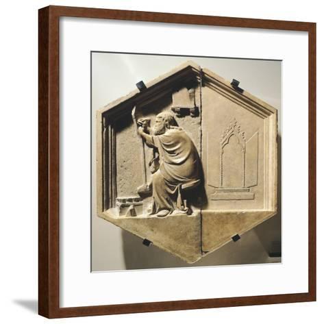 The Greek Painter Apelles, Detail from the Liberal Arts, 1334-1336-Nino Pisano-Framed Art Print