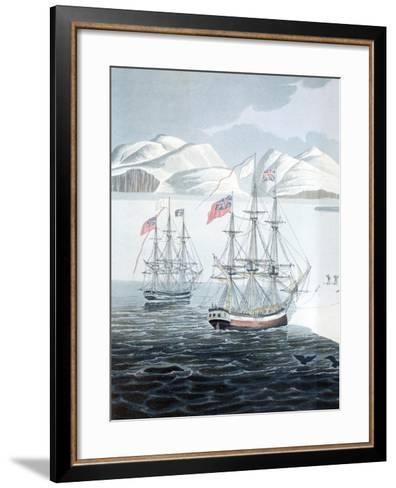 First Communication with the Natives of Prince Rupert Island-John Sackheouse-Framed Art Print