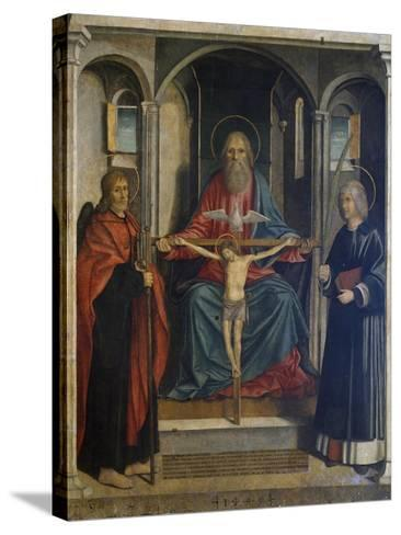 Trinity Between St James the Pilgrim and St Stephen, 1495-Marco Costanzo-Stretched Canvas Print