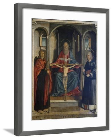 Trinity Between St James the Pilgrim and St Stephen, 1495-Marco Costanzo-Framed Art Print