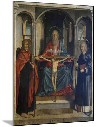 Trinity Between St James the Pilgrim and St Stephen, 1495-Marco Costanzo-Mounted Giclee Print