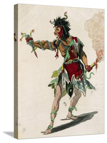 Sketch for Costume of Mars in Opera Castor and Pollux-Jean-Philippe Rameau-Stretched Canvas Print