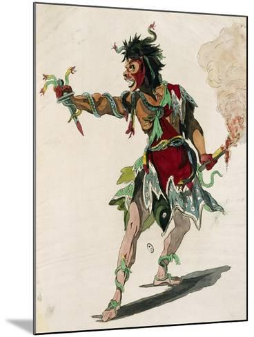 Sketch for Costume of Mars in Opera Castor and Pollux-Jean-Philippe Rameau-Mounted Giclee Print