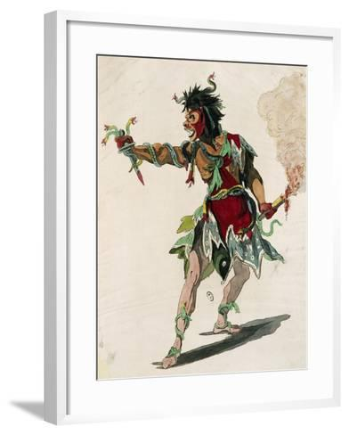 Sketch for Costume of Mars in Opera Castor and Pollux-Jean-Philippe Rameau-Framed Art Print