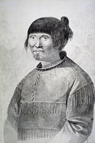 Portrait of Tattooed Native from Island of Unalaska, 1778-John Webber-Stretched Canvas Print