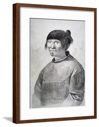 Portrait of Tattooed Native from Island of Unalaska, 1778-John Webber-Framed Art Print