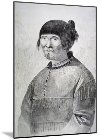 Portrait of Tattooed Native from Island of Unalaska, 1778-John Webber-Mounted Giclee Print
