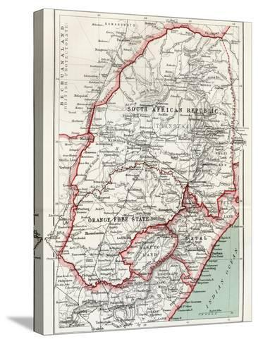 Map of South African Republic, Orange Free State and Natal C.1900-Louis Creswicke-Stretched Canvas Print