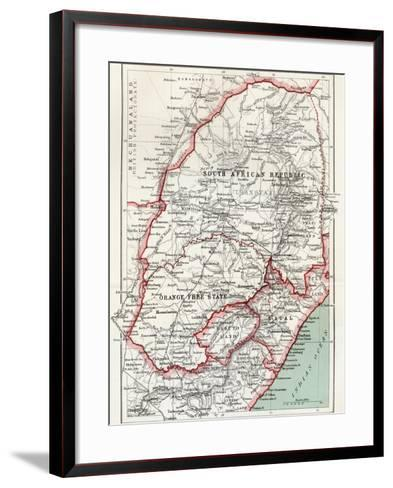 Map of South African Republic, Orange Free State and Natal C.1900-Louis Creswicke-Framed Art Print