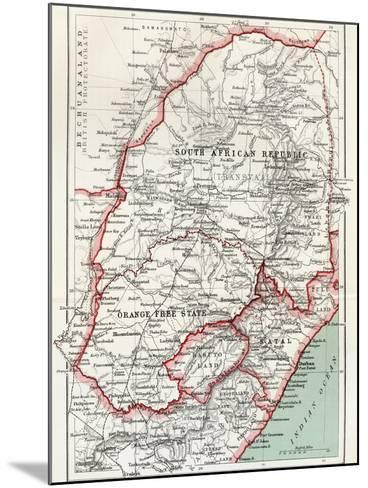 Map of South African Republic, Orange Free State and Natal C.1900-Louis Creswicke-Mounted Giclee Print