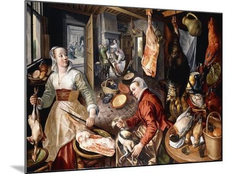The Four Elements-Joachim Beuckelaer-Mounted Giclee Print