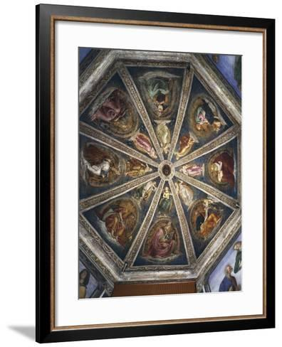 Angels Playing Musical Instruments, Evangelists and Doctors of the Church, Ca 1478-Luca Signorelli-Framed Art Print