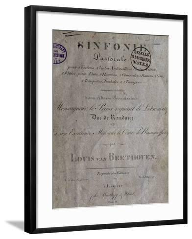 Title Page of Score for Pastoral Symphony No 6 in F Major, Opus 68-Ludwig Van Beethoven-Framed Art Print