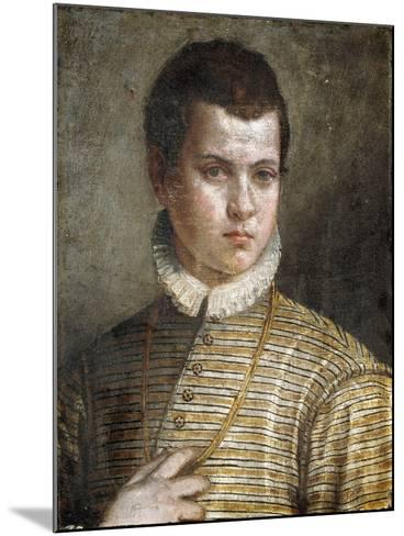 Portrait of a Young Man, Bust-Length, Wearing a Striped Costume and a White Ruff-Paolo Caliari-Mounted Giclee Print