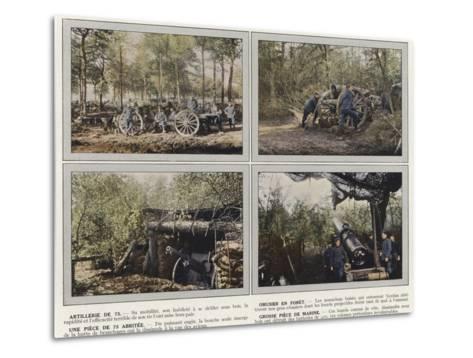 Artillerie De 75, Obusier En Foret, Une Piece De 75 Abritee, Grosse Piece De Marine-Jules Gervais-Courtellemont-Metal Print