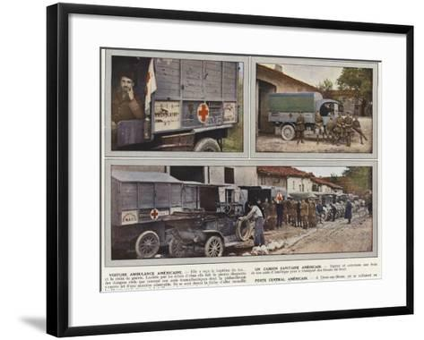 Voiture Ambulance Americaine, Un Camion Sanitaire Americain, Poste Central Americain-Jules Gervais-Courtellemont-Framed Art Print