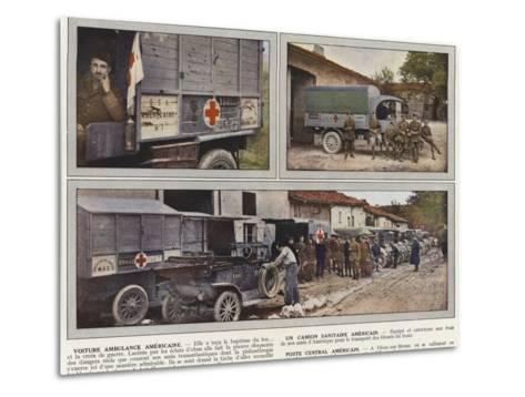 Voiture Ambulance Americaine, Un Camion Sanitaire Americain, Poste Central Americain-Jules Gervais-Courtellemont-Metal Print