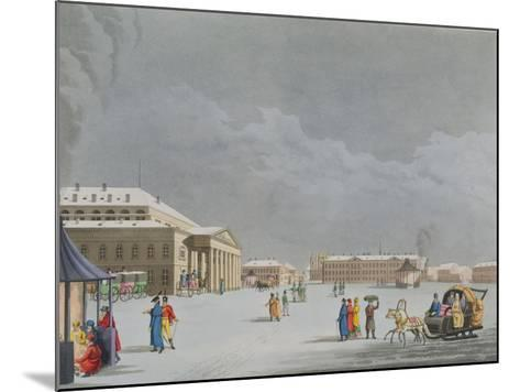 View of the Square and the Grand Theatre at St. Petersburg- Mornay-Mounted Giclee Print