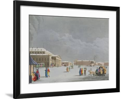 View of the Square and the Grand Theatre at St. Petersburg- Mornay-Framed Art Print