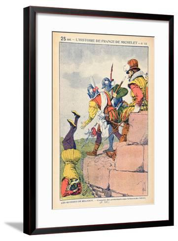 The Cruelty of Protestants under the Baron Des Adrets in the 16th Century-Louis Bombled-Framed Art Print