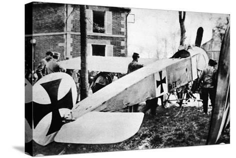 The Fokker's Day Past: One of the Much-Talked-About German Monoplanes a Captive in the French Lines--Stretched Canvas Print