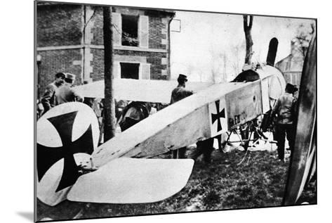 The Fokker's Day Past: One of the Much-Talked-About German Monoplanes a Captive in the French Lines--Mounted Photographic Print