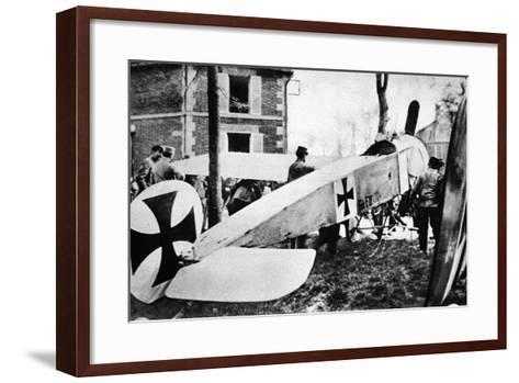 The Fokker's Day Past: One of the Much-Talked-About German Monoplanes a Captive in the French Lines--Framed Art Print