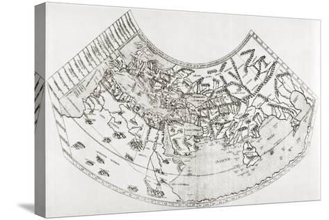 World Map from Ptolomy's Geographia, from 'The Quest for Cathay'-Sir Percy Sykes-Stretched Canvas Print