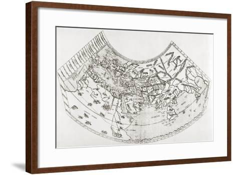 World Map from Ptolomy's Geographia, from 'The Quest for Cathay'-Sir Percy Sykes-Framed Art Print