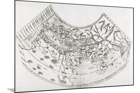 World Map from Ptolomy's Geographia, from 'The Quest for Cathay'-Sir Percy Sykes-Mounted Giclee Print
