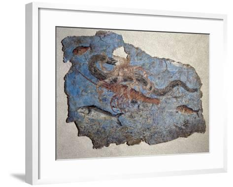 Marine Scene of Fight Between an Octopus a Lobster and a Moray Eel from the River Port of San Paolo--Framed Art Print