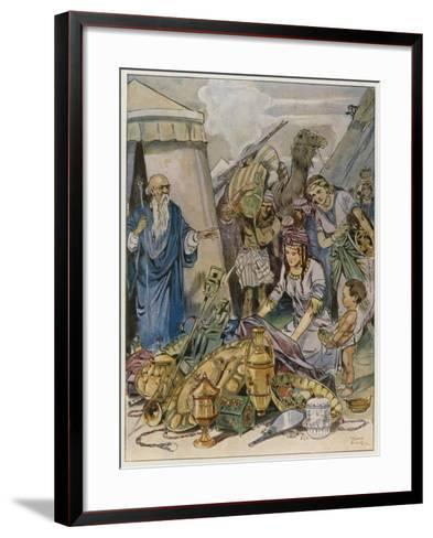 And They Came Both Men and Women, as Many as Were Willing-Hearted, and Brought Offerings-Tony Sarg-Framed Art Print